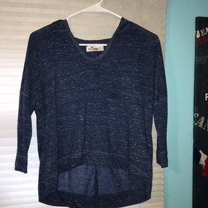 Navy blue mid sleeve shirt
